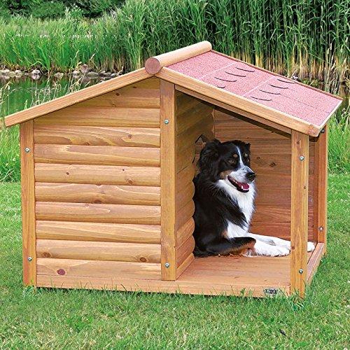 Trixie cuccia per cani con terrazza coperta in legno for Casette in legno per cani grandi