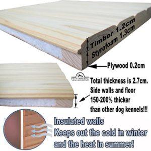 Pets Imperial® Cuccia Per Cani Canile Norfolk Extra Large in Legno con Binari Guida e Pavimento Estraibile per il Mantenimiento Facile - 7