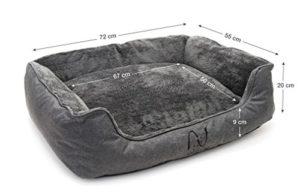 Happilax - Letto per cani lavabile con cuscini sfoderabili