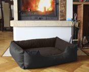 Beddog letto per cane/gatto cuccia LUPI S fino a XXXL, 24 colori a scelta, cuscino per cane, divano per cane, cestino per cane, nero/marrone S - 3