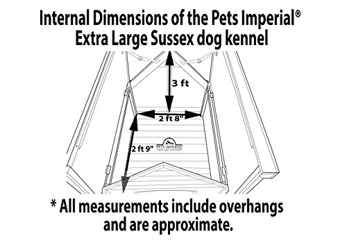 Pets Imperial® Sussex Cuccia Per Cani Canile in Legno di Talla XL con Pavimento Rimovibile per La Pulizia Facile