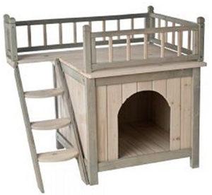Cuccia per Cani - Cuccia a forma di casetta per cane da interni, in legno(2).png