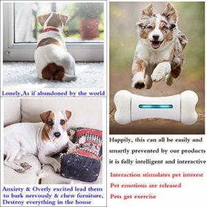 YOUANDMI Indistruttibile Interattivo Giocattolo per Cani Giochi - Intelligenti Bluetooth Cani Accessori Osso con 12 Emozionale - 9 Sportive - Materiale Sicuro FDA - USB Charging (300G),Smart Bones - 2