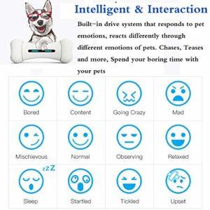YOUANDMI Indistruttibile Interattivo Giocattolo per Cani Giochi - Intelligenti Bluetooth Cani Accessori Osso con 12 Emozionale - 9 Sportive - Materiale Sicuro FDA - USB Charging (300G),Smart Bones - 3