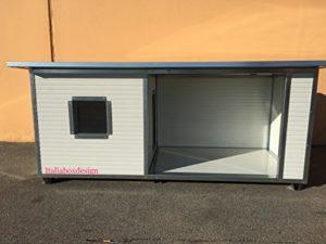 ITALIA BOX DESIGN CUCCIA COIBENTATA CON VERANDA PER CANI - 3